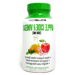 2 Apple Cider Vinegar Supplement 500 Mg 60 Capsules Weight L