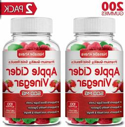 2 PACK - Apple Cider Vinegar    Gummies 1-3 Day Delivery Tim