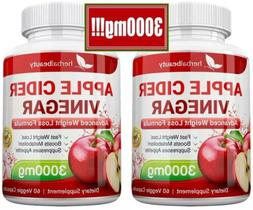 2 x Herbal Beauty APPLE CIDER VINEGAR Pills 3000mg WEIGHT LO