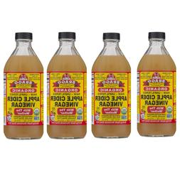 *4 Pack* Bragg Organic Apple Cider Vinegar 16 oz FREE SHIPPI