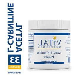 Vital Nutrients - Acetyl L-Carnitine Powder 100 gms