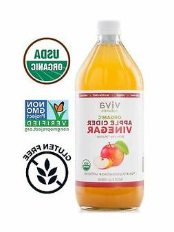 Viva Naturals Raw Organic Apple Cider Vinegar, 32 oz