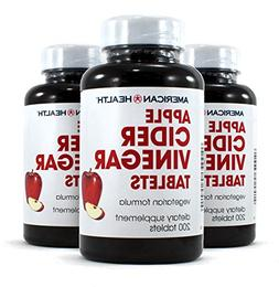 American Health Apple Cider Vinegar 3x 200 TAB
