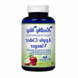 apple cider vinegar 1000mg serving 200 capsules