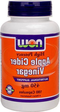 NOW FOODS Apple Cider Vinegar 450 mg - 180 Caps