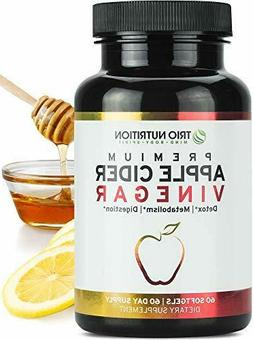 Apple Cider Vinegar Capsules with Cayenne, Lemon, Honey - 60