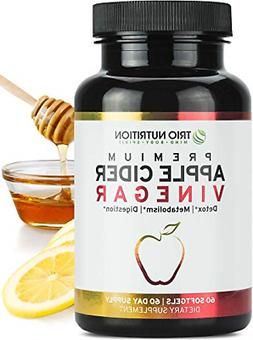 Apple Cider Vinegar Capsules Softgels with Cayenne, Lemon, H