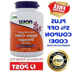 Now Foods Apple Cider Vinegar EXTRA STRENGTH 750mg 180 Table