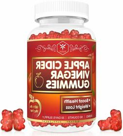 Apple Cider Vinegar Gummies with Mother for Weight, Detox &