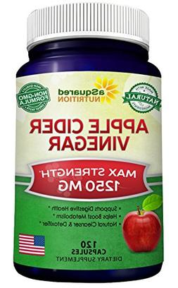 Pure Apple Cider Vinegar Supplement  - Extra Strength 1250mg