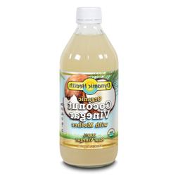 Coconut Vinegar w/Mother Certified Organic Dynamic Health 16