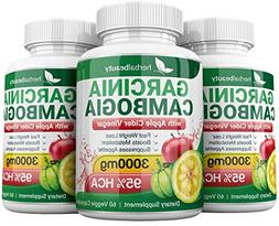 Pure Garcinia Cambogia Extract & Apple Cider Vinegar- 3000mg