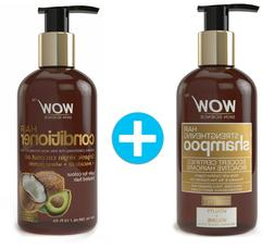WOW Hair Strengthening Shampoo + WOW Hair Conditioner Set  -