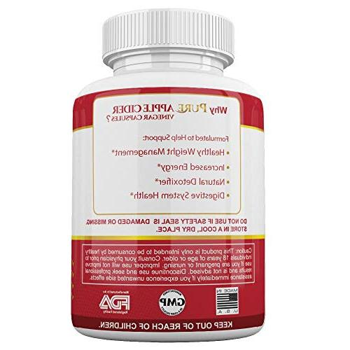 120 Pills Organic ACV | Acting, Detox Supplement | Supports Weight Detox, Pressure, Cholesterol, Gorgeous &