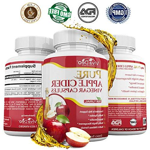120 Cider Pills Organic ACV Acting, Supplement | Pressure, Hair &
