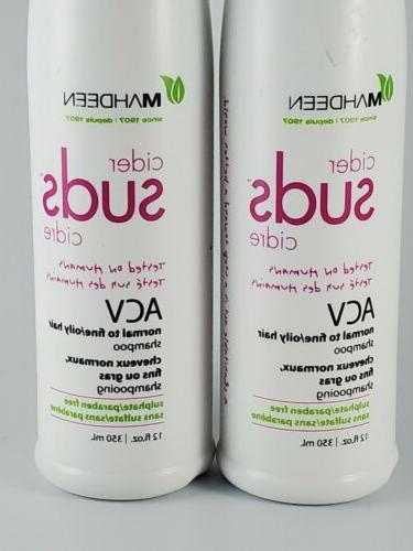 2 Pack Cider ACV To Oily Hair Shampoo