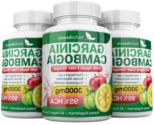 3 GARCINIA 95% + APPLE Loss 3000mg