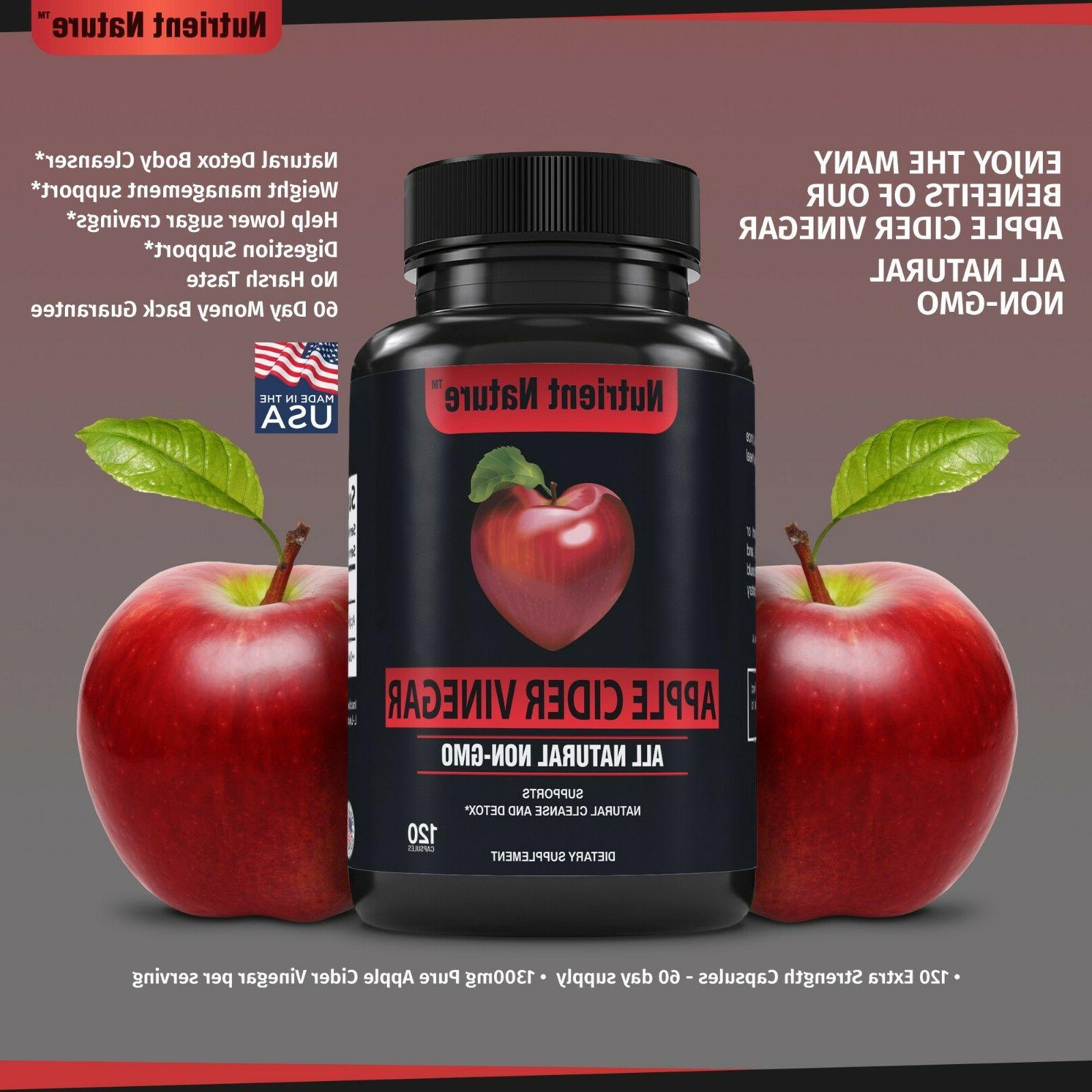 Apple Capsules Pills - Detox Body Weight Loss