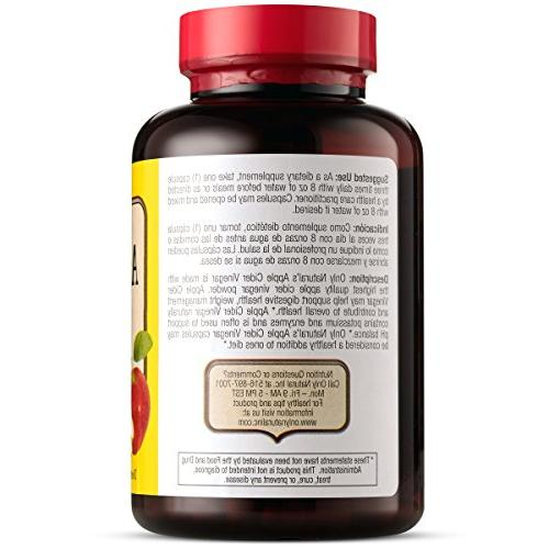 Only Cider Vinegar 500mg, 180 - - Detox - Cleanser - & Support