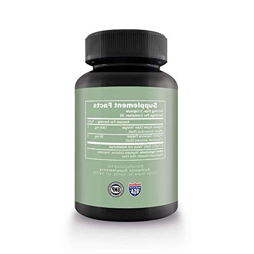 Apple Capsules - Pills for Women & - Best Lean Fat Great Digestion Support - Authentic Supplements