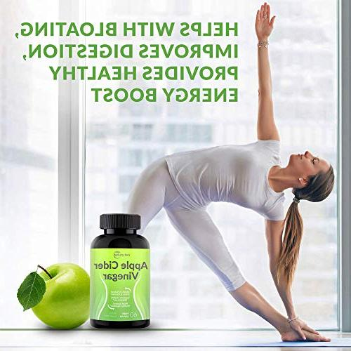 Apple 1300mg Tasteless Natural Weight Cleanse, Detox, Digestion Support Tablets - 100% Vegetable Capsules Non-GMO Free - Made