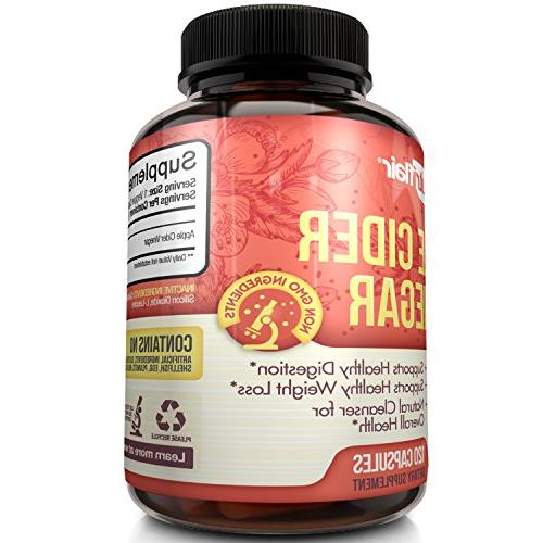 Apple Cider 1250mg Extra Pills for Healthy Weight Loss, Diet, Digestion, Detox, Immune - Powerful & Appetite Supplement