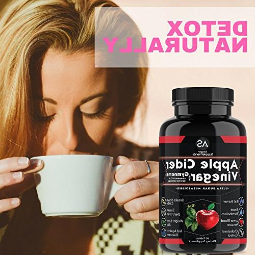 Apple Cider Pills for Weightloss Turmeric Curcumin Natural Detox Includes for Health Best Kit