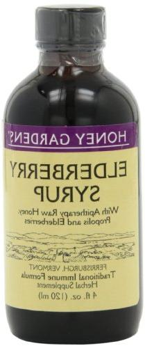Honey Gardens Elderberry Syrup, 4-Ounce