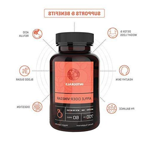 Integrals Cider Potent with the Mother in Every Pill Natural Detox Digestion. for Acid Reflux