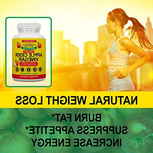 100% Organic Apple Cider Capsules All Natural Cleanse Immune ACV Pills Loss, Fat Suppressant Supplement 1000