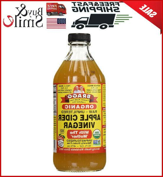 Bragg Organic Raw Unfiltered Apple Cider Vinegar with The Mo