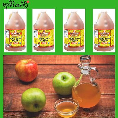 Pure Apple Cider Vinegar With The Mother Bragg Raw Organic W
