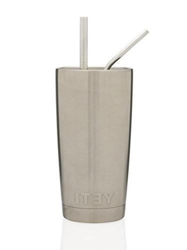 Stainless Steel - 2 Wider/Straight Straws - Smoothies, Coffee & - - Solution by Greens Steel