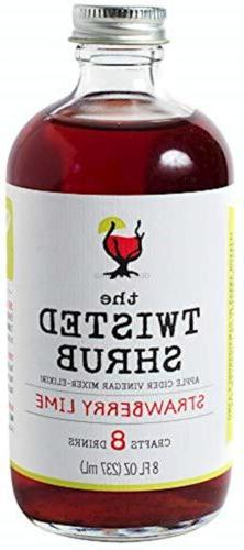 The Twisted Shrub - STRAWBERRY LIME - Apple Cider Vinegar dr