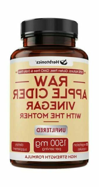 High Strength Apple Cider Vinegar Capsules with Mother - Acv