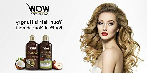 WOW Apple Vinegar Shampoo Set - Increase Hydration, - Dandruff & Frizz No - For All Hair Types, -