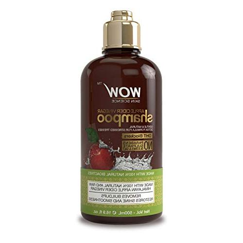WOW Apple Shampoo Hydration, Dandruff - - For Types, Adults Children - 500 mL