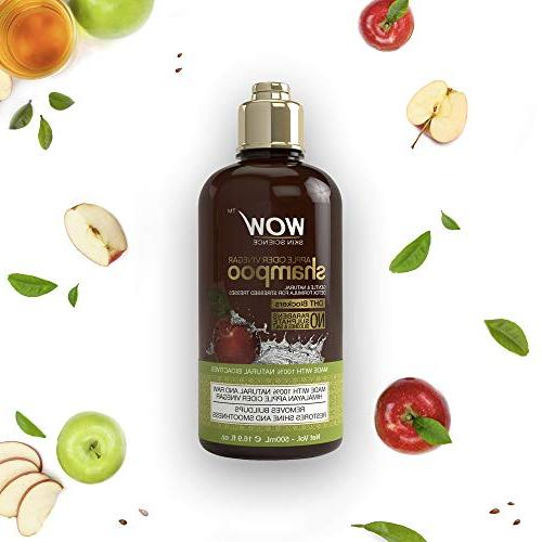 WOW Apple Cider Vinegar Shampoo & Set Hydration, Dandruff & No - For All Types, & - 500