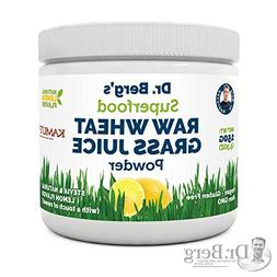 Natural Lemon Flavored Organic Wheat Grass Juice Powder with