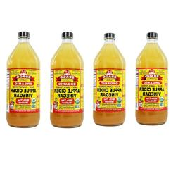 Bragg Organic Apple Cider Vinegar 32 fl oz bottle Pack of 4