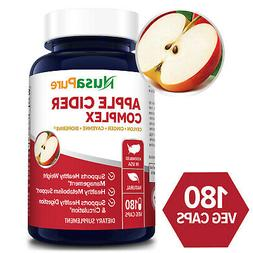 Organic Apple Cider Vinegar Pills 1800mg 180 Veggie Caps wit
