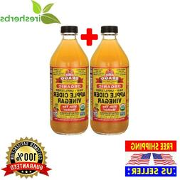 "BRAGG ORGANIC APPLE CIDER VINEGAR RAW AND UNFILTERED WITH ""T"