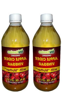 Organic Apple Cider Vinegar With Mother - 2 x 16 oz Liquid
