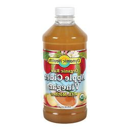 Dynamic Health Organic Cider Vinegar with Mother, Raw Apple,