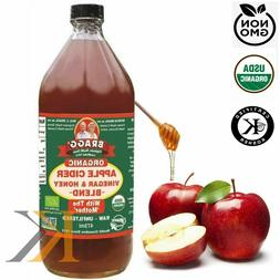 Bragg Organic Raw Honey Apple Cider Vinegar with The Mother