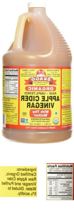 Bragg Organic Unfiltered Apple Cider Vinegar, Raw, 128 Ounce