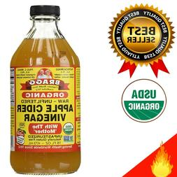 BRAGGS APPLE CIDER Vinegar with Mother 16 ounce USDA Certifi