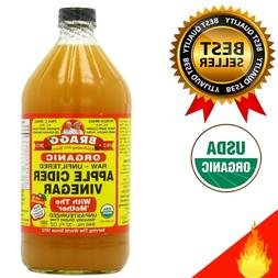 BRAGGS APPLE CIDER Vinegar with Mother 32 ounce USDA Organic