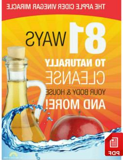 📔 The Apple Cider Vinegar 81 Ways To Naturally Cleanse Yo