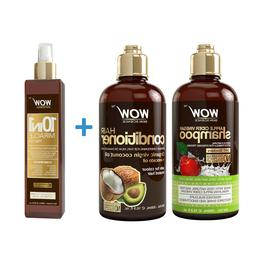WOW Apple Cider Vinegar Shampoo and Conditioner + Hair Oil -